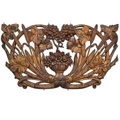 Carved and Gilt Decorative Wall Plaque