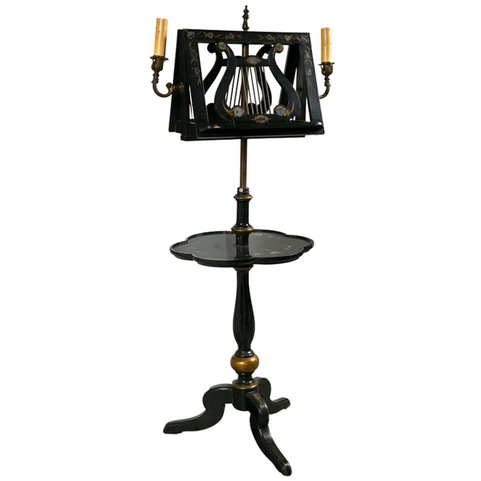 Lighted music stand at 1stdibs for Antique floor lamp lighted base