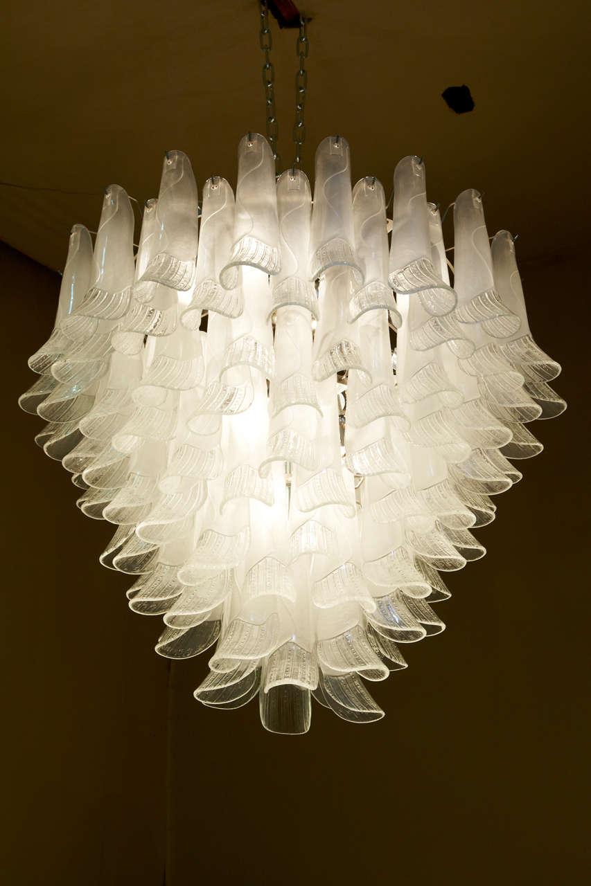 1960s murano glass chandelier at 1stdibs