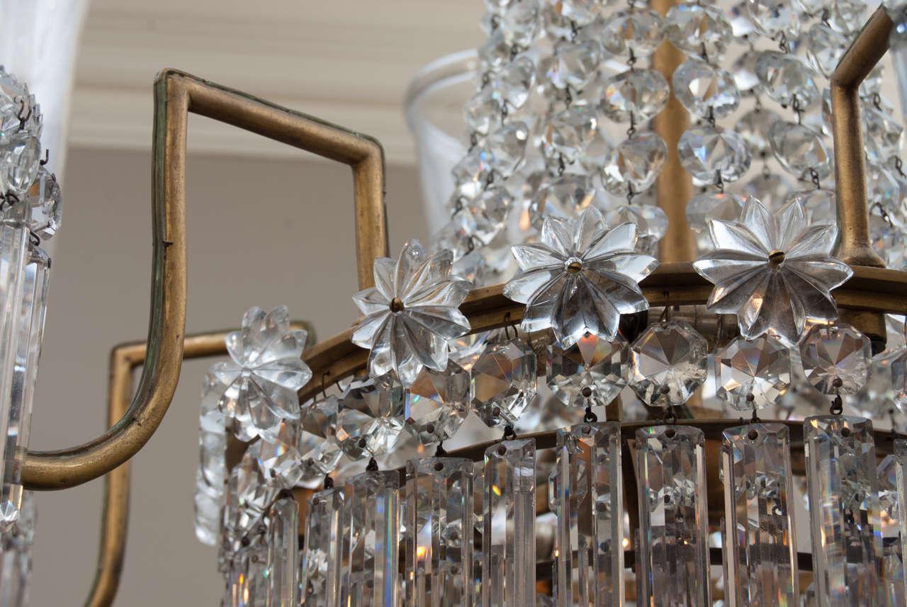 Regency 12 Light Bronze Crystal Chandelier, Attrib. to John Blades, Circa:1810 For Sale 2