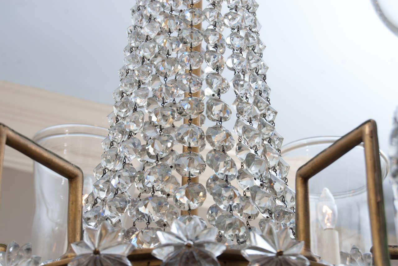 Regency 12 Light Bronze Crystal Chandelier, Attrib. to John Blades, Circa:1810 For Sale 3