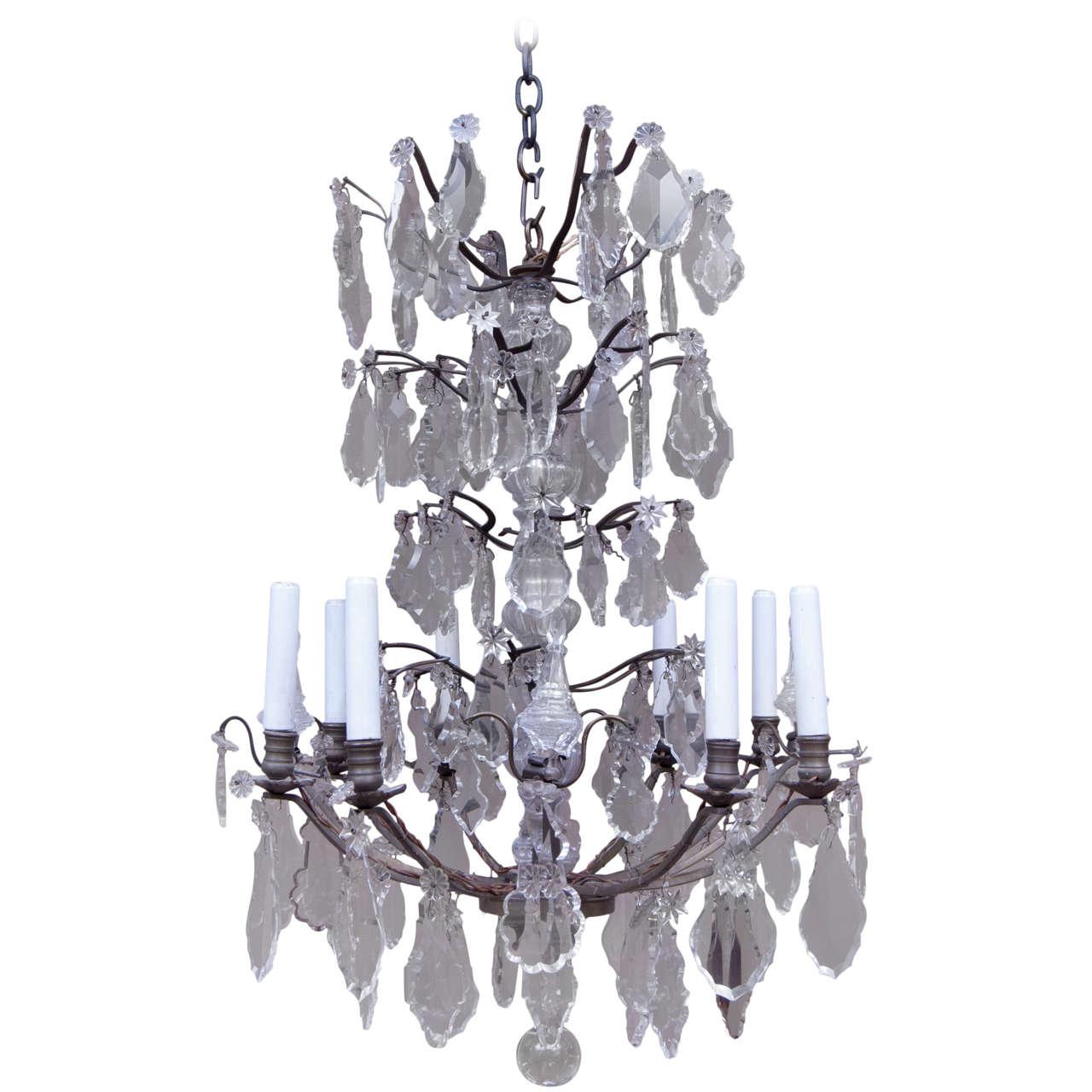 Eight Light Louis Xv Style Chandelier At 1stdibs