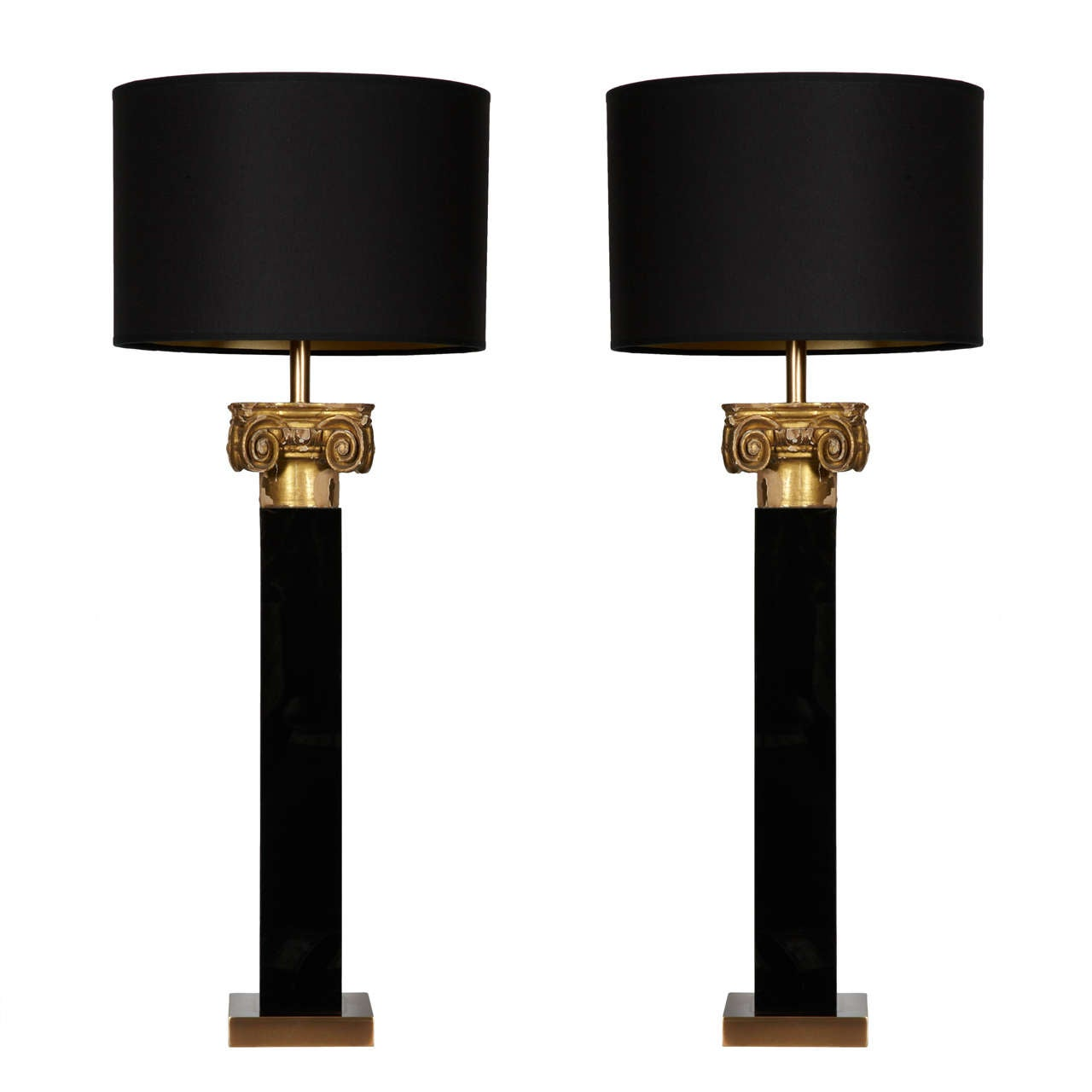 this pair of table lamps with carved wood capital is no longer. Black Bedroom Furniture Sets. Home Design Ideas