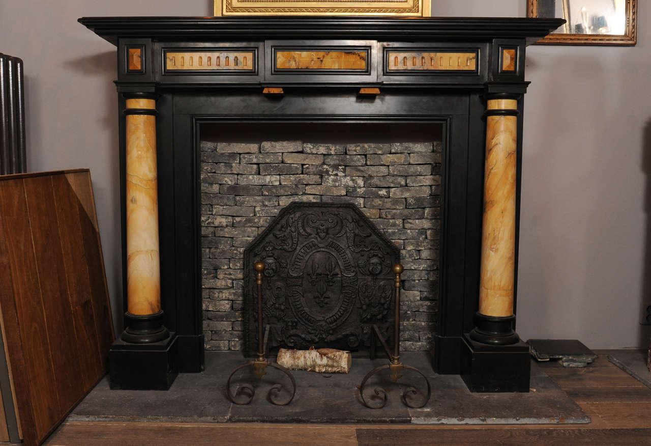 a large 19th c french renaissance revival marble fireplace