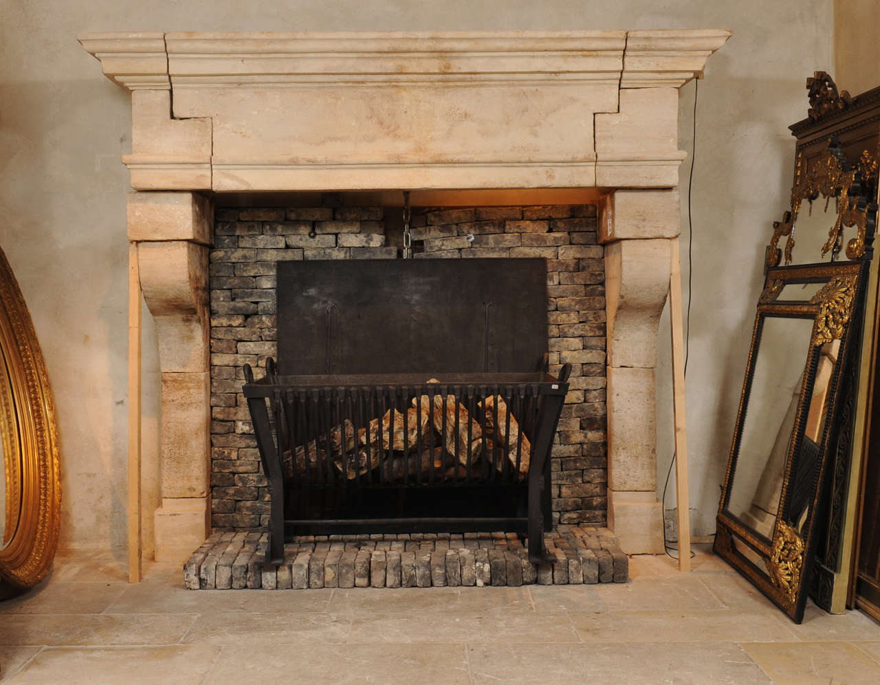 A large 17th c french limestone castle fireplace mantel piece at 1stdibs - Fireplace mantel piece ...