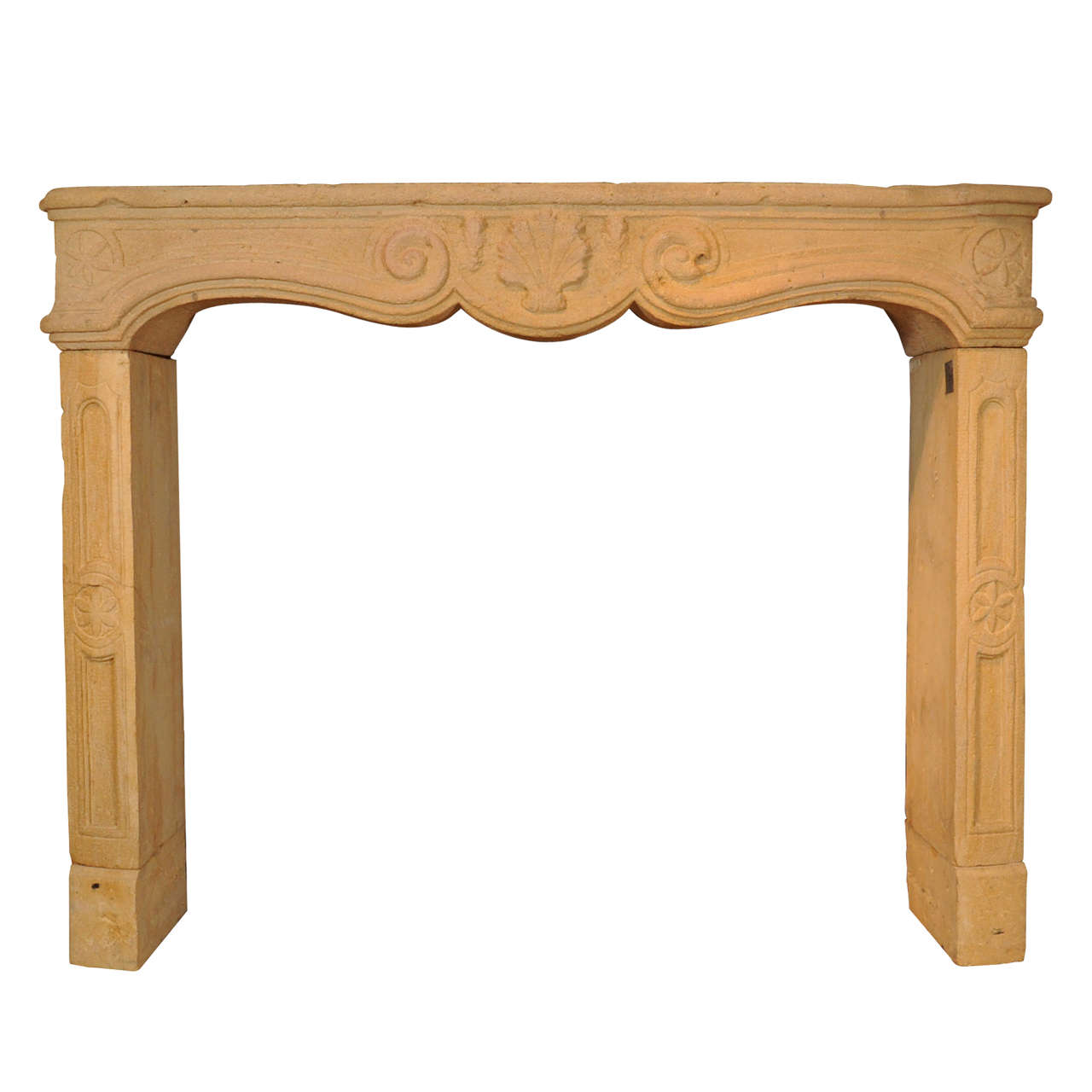 A mid 18th c french baroque fireplace mantel piece for sale at 1stdibs - Fireplace mantel piece ...