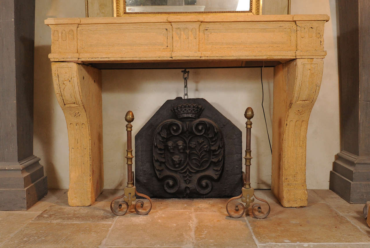 An 18th c french louis xvi neoclassical sandstone fireplace mantel piece for sale at 1stdibs - Fireplace mantel piece ...