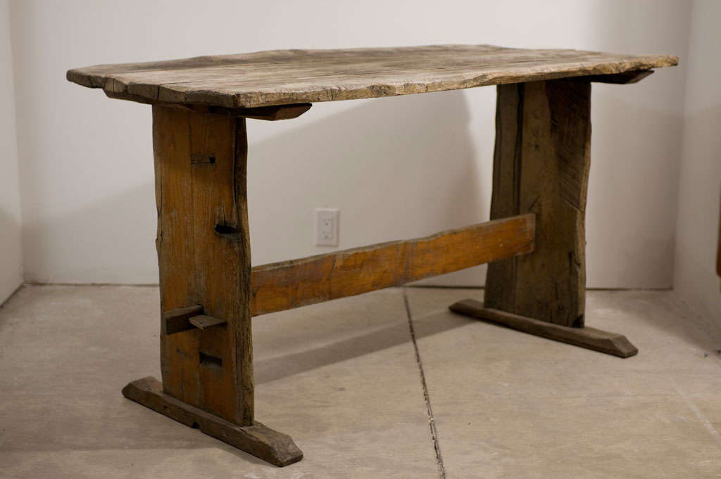 Rustic Italian Trestle Table At 1stdibs
