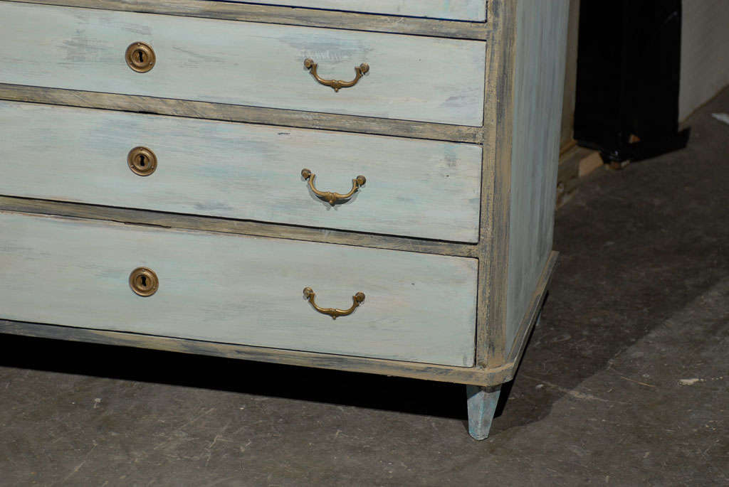 Swedish, 19th Century, Karl Johan Painted Wood Drop Front Desk For Sale 1