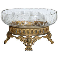 Beautiful Crystal Antique French Centerpiece
