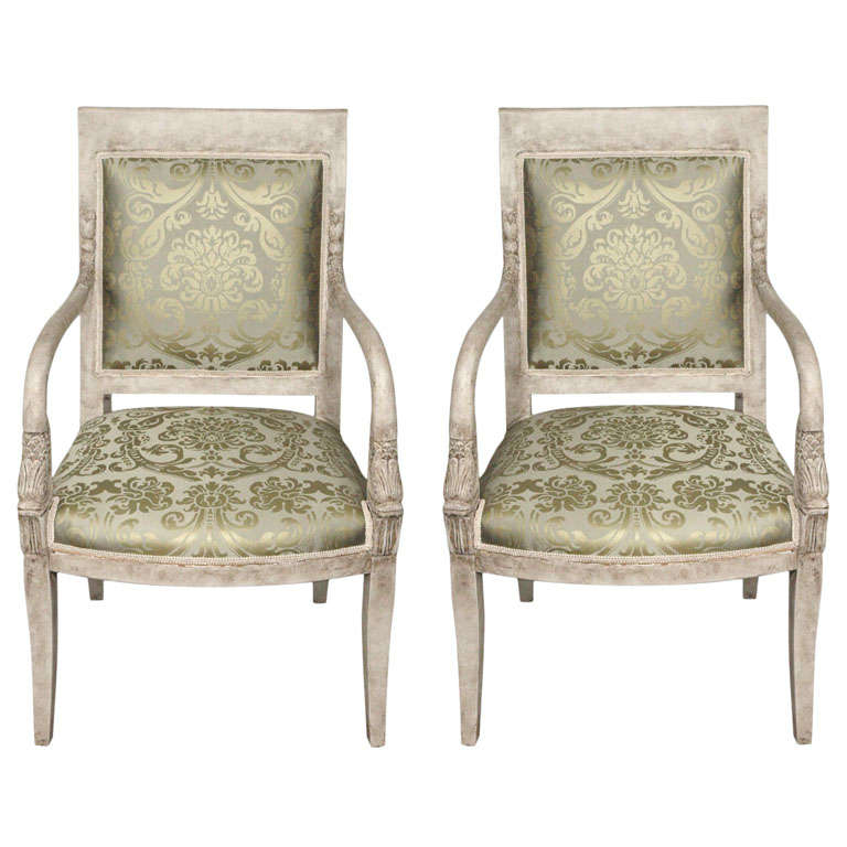 A Pair Of Period French Chairs With Missoni Fabric At 1stdibs: Exquisite Pair Of 19th Century French Neoclassical