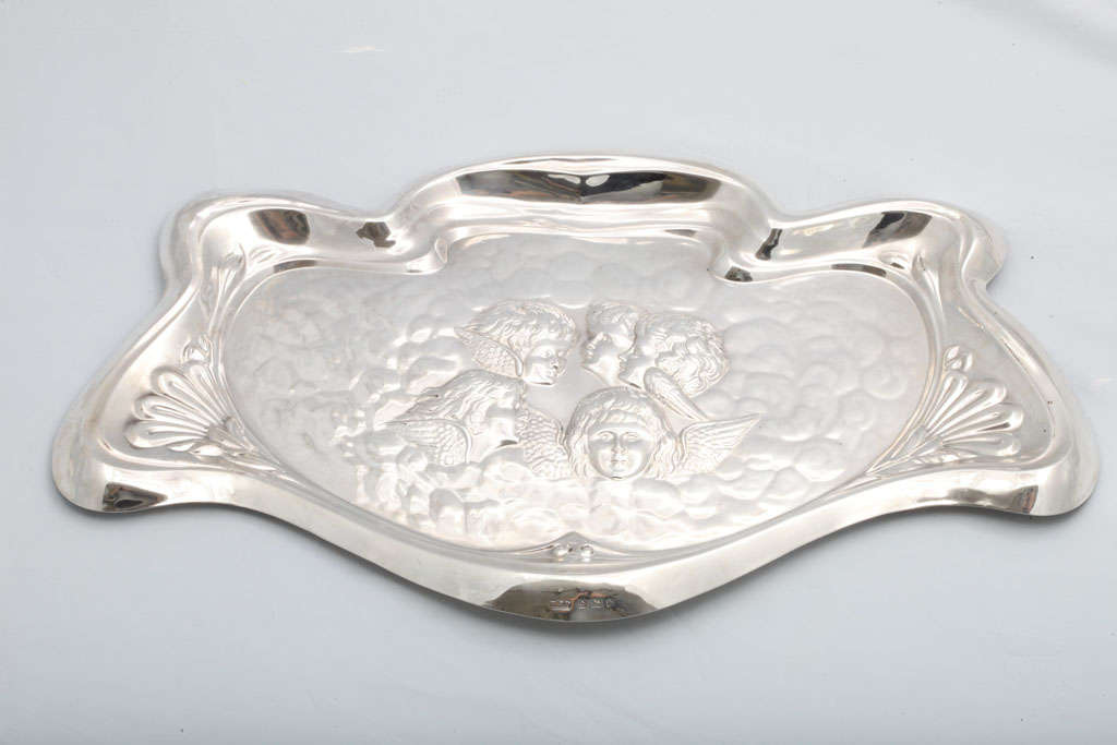 Art Nouveau Sterling Silver Vanity Tray 2