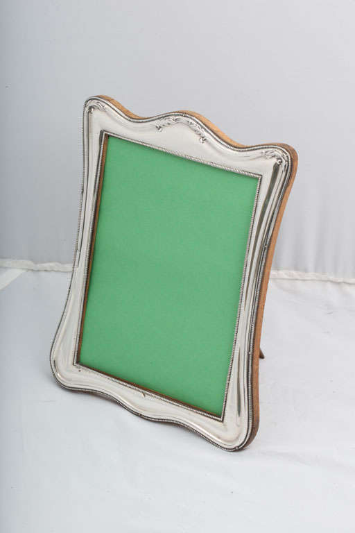 Edwardian Sterling Silver Picture Frame For Sale