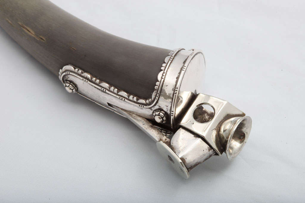 Continental Silver-mounted Horn Cigar Cutter 1