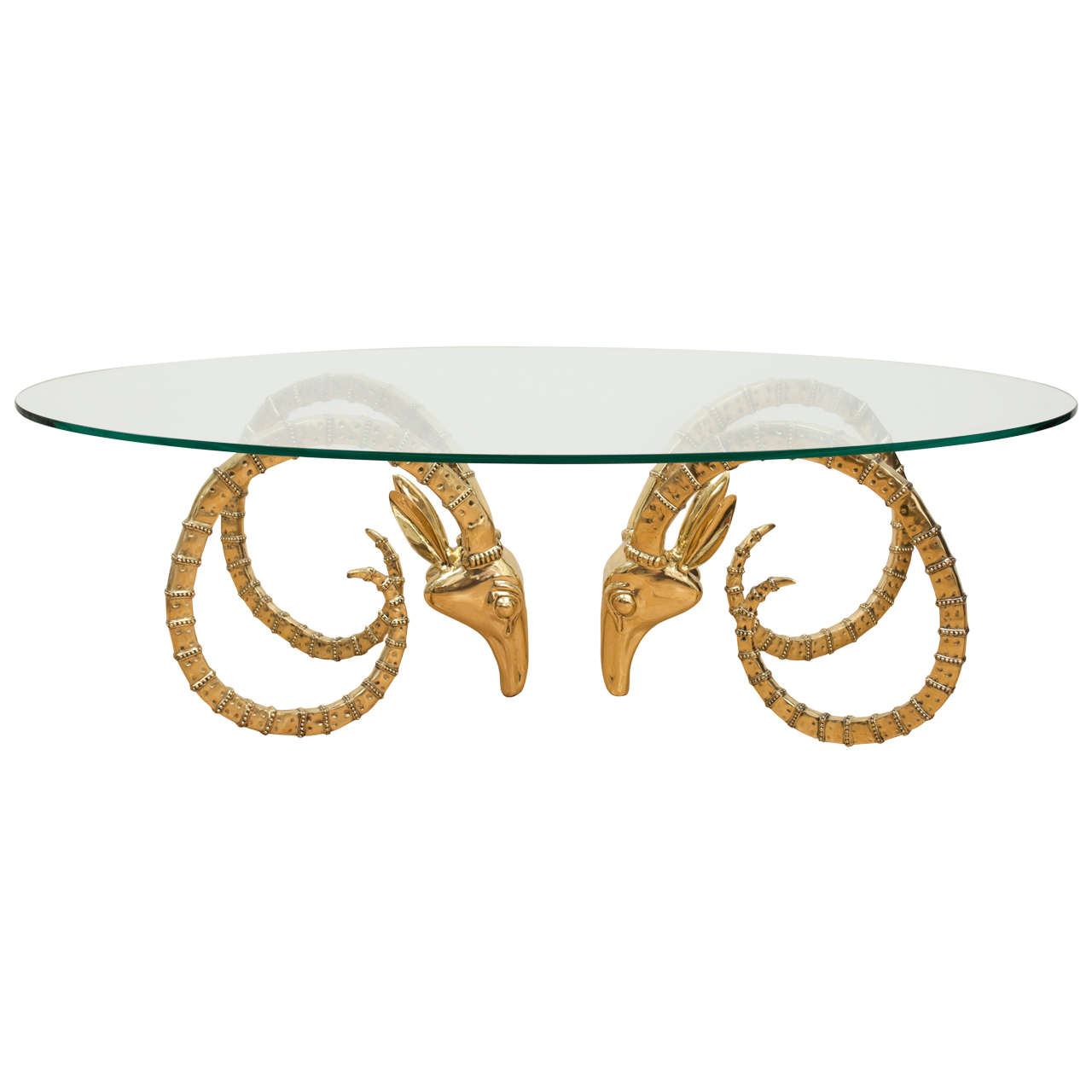 Polished Brass Ibex Cocktail Table at 1stdibs