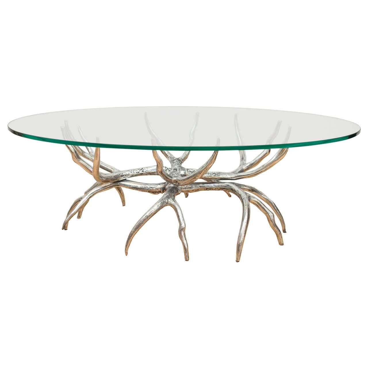 Arthur Court Polished Antler Cocktail Table At 1stdibs