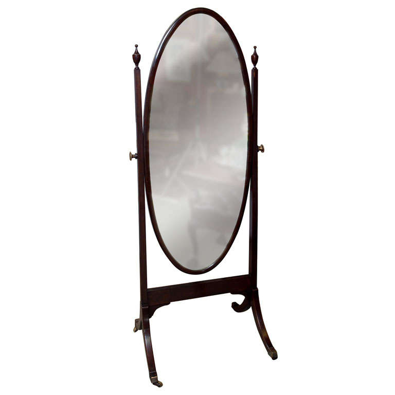 Antique chavel mirror at 1stdibs for Vintage floor length mirror