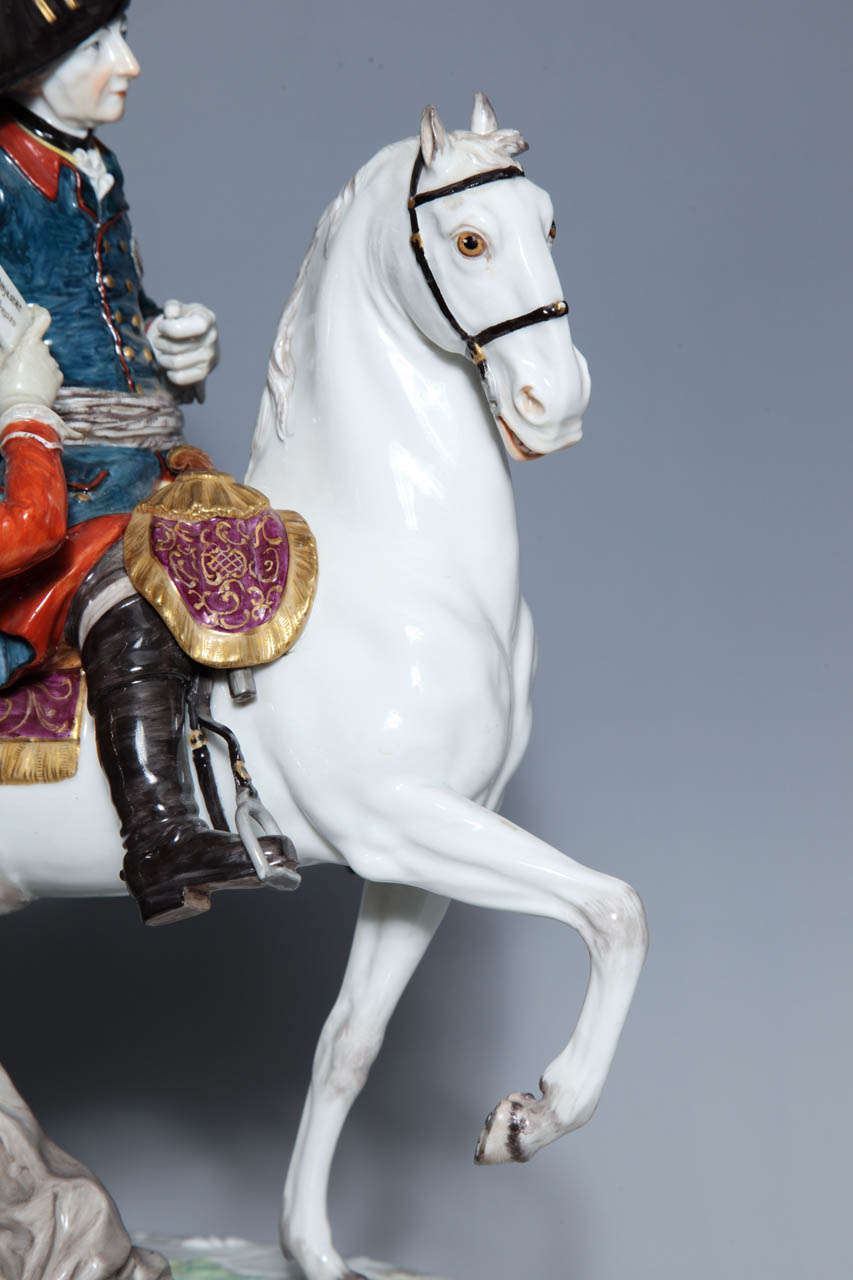 A 19th Century Meissen Group Of Calvary General Mikhail