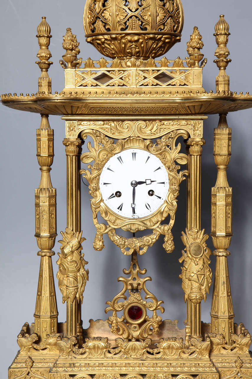 Important French Orientalist Jeweled Clock for Turkish Market, YSL Collection In Good Condition For Sale In New York, NY