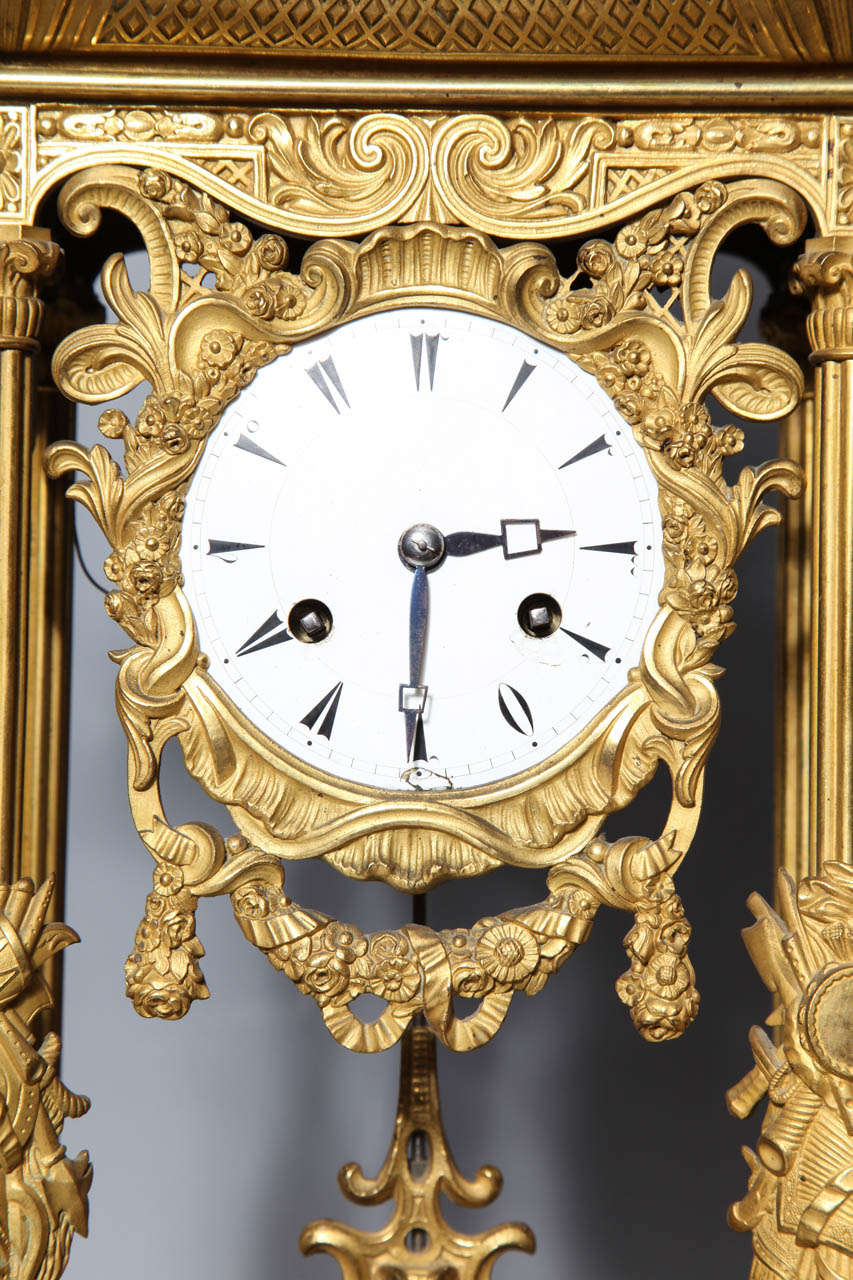 Enamel Important French Orientalist Jeweled Clock for Turkish Market, YSL Collection For Sale