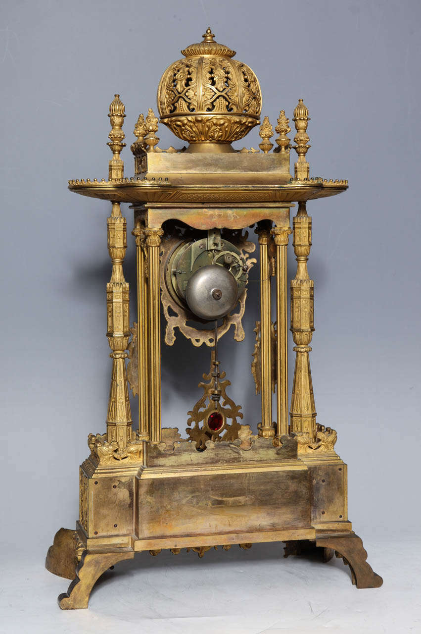 Important French Orientalist Jeweled Clock for Turkish Market, YSL Collection For Sale 3