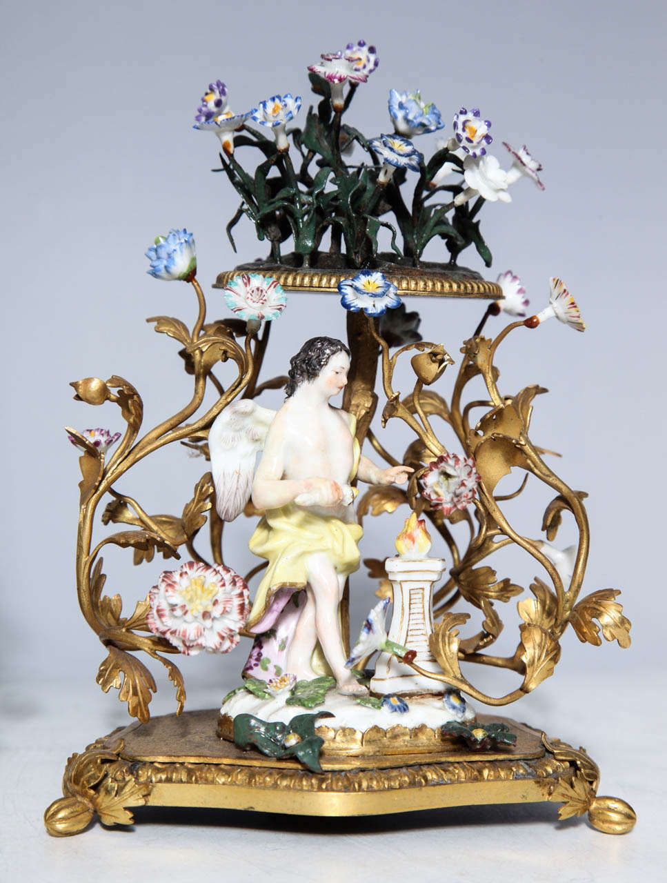 Rococo Revival Pair of 18th Century Meissen Porcelain Groups in Dore Bronze Mounts, circa 1770 For Sale