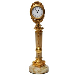 Neoclassical Gilt Bronze Mystery Clock, France, 1880