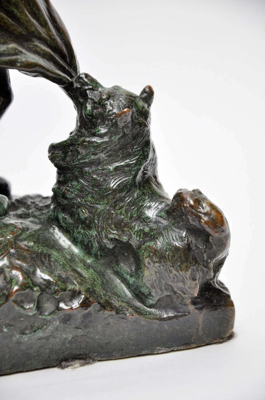 Signed Juan Clara Bronze Figurine For Sale 3