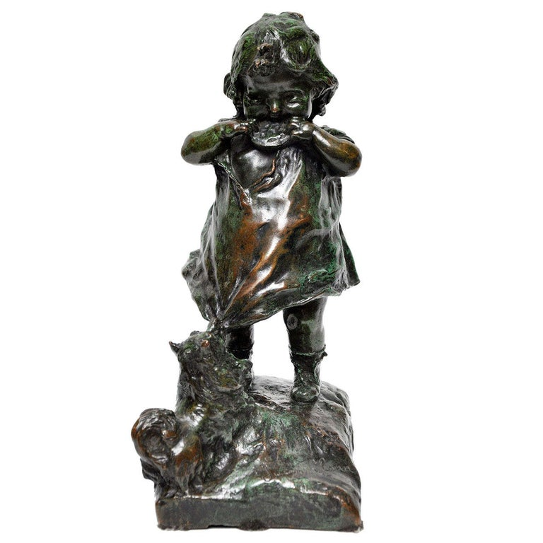 Signed Juan Clara Bronze Figurine For Sale