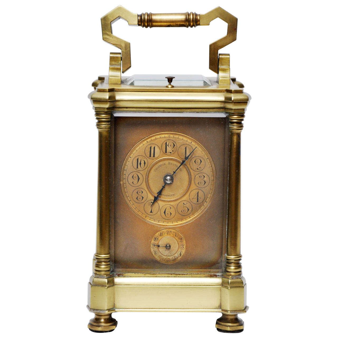 Antique French Br Carriage Clock For