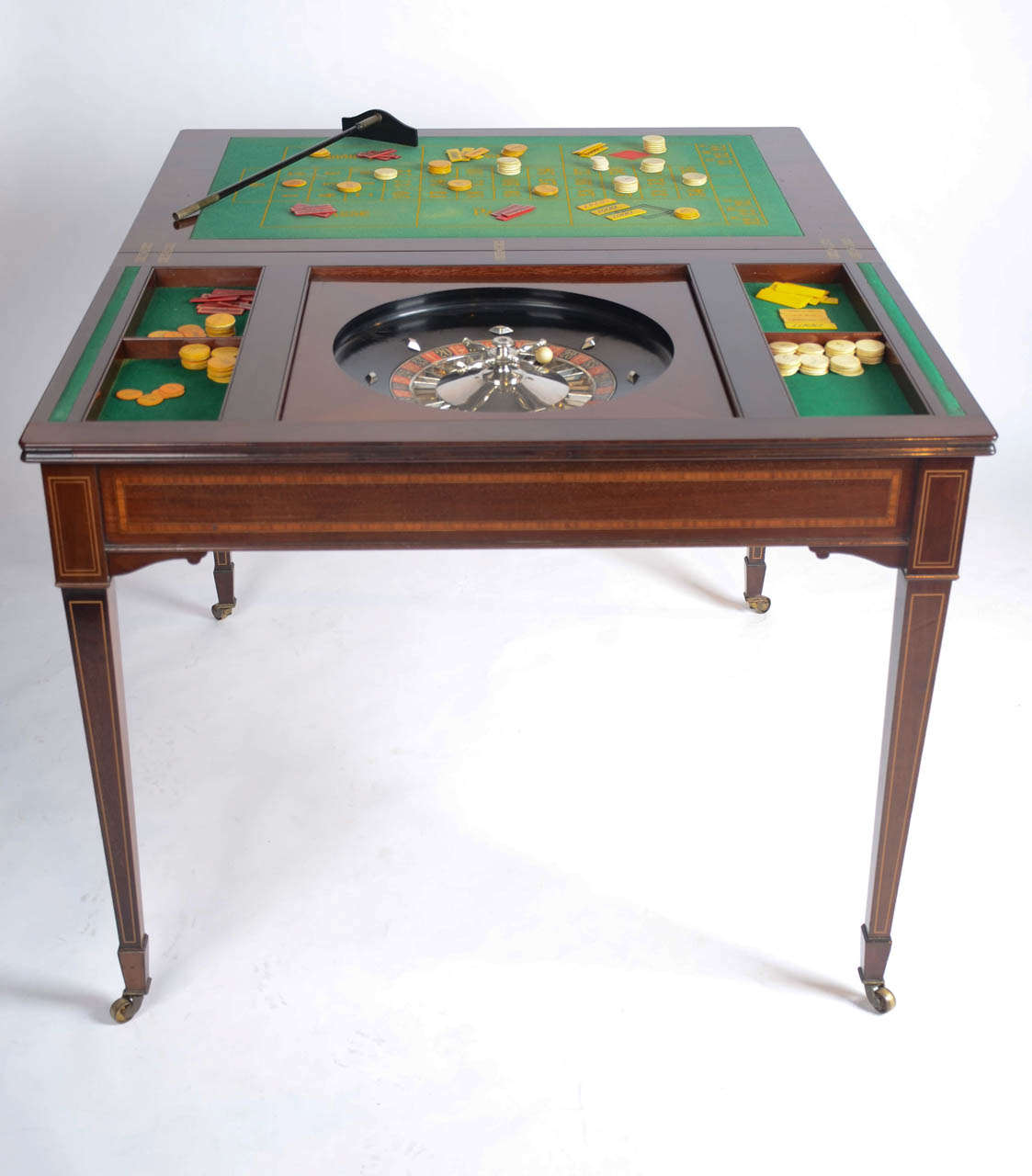 The Edwardian Kings Roulette Card and Games Table mahogany c1908