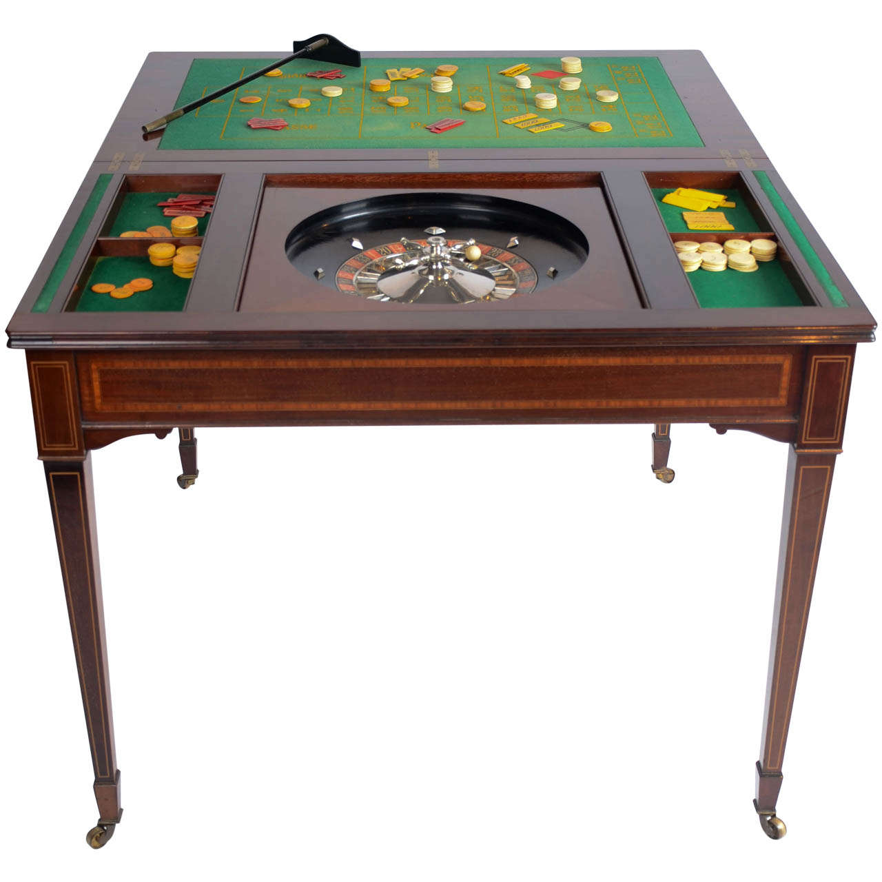 the edwardian king 39 s roulette card and games table mahogany for sale at 1stdibs. Black Bedroom Furniture Sets. Home Design Ideas
