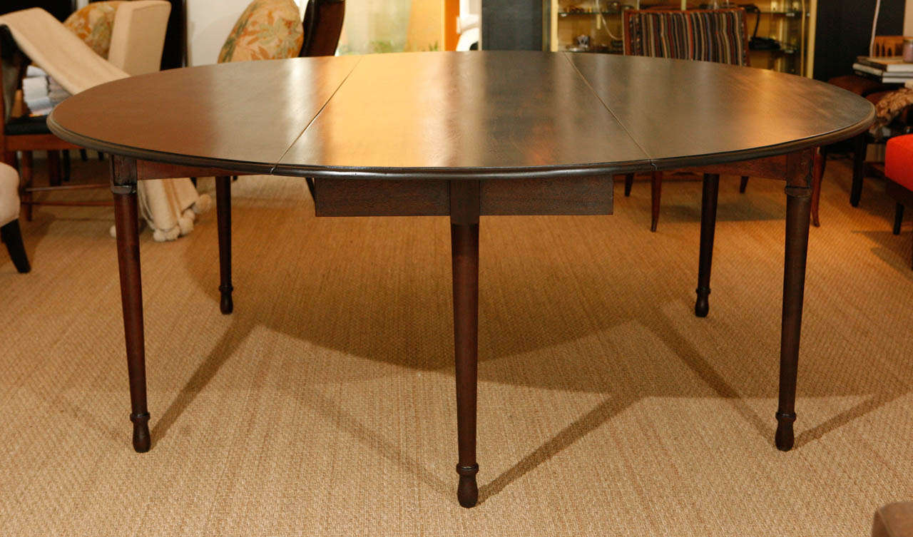 Large Pre American Civil War Drop Leaf Dining Table At 1stdibs