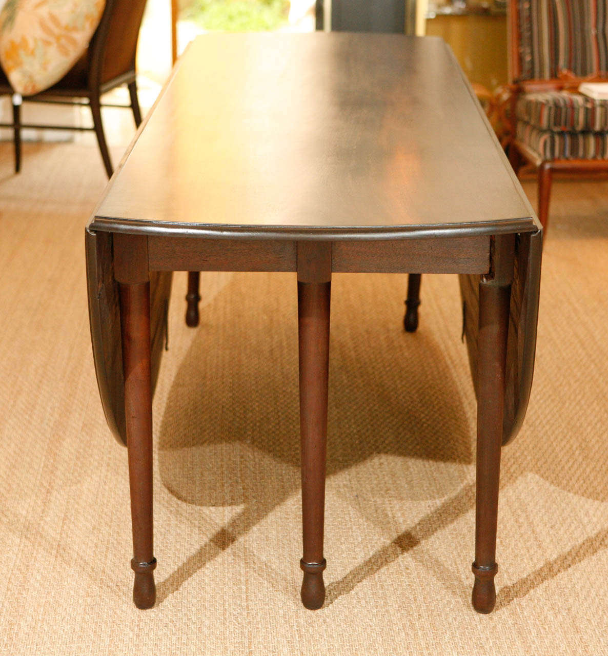 large double drop leaf dining table for sale at 1stdibs. Black Bedroom Furniture Sets. Home Design Ideas
