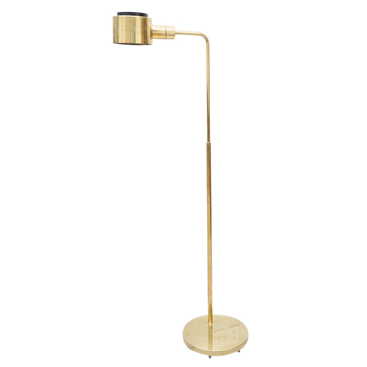 1970s casella brass floor lamp at 1stdibs for 1970s floor lamps