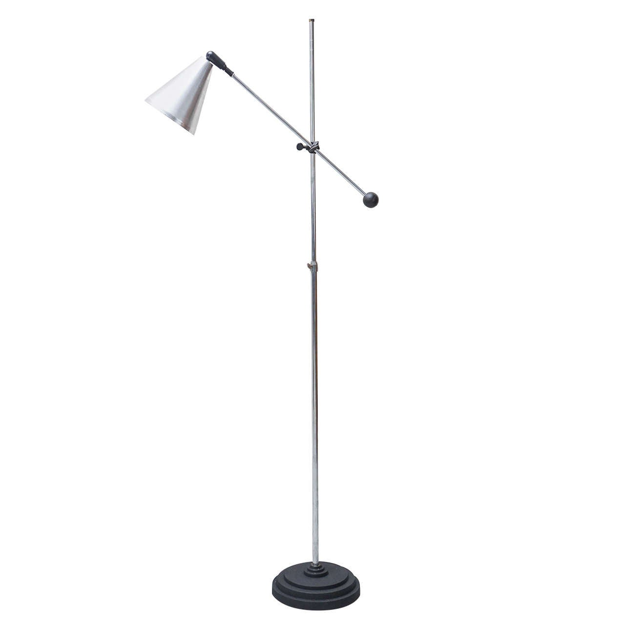 1960s industrial adjustable floor lamp for sale at 1stdibs for Monique 3 light adjustable floor lamp