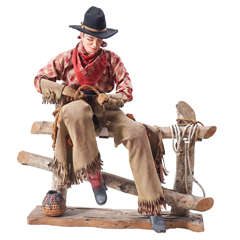 1940s Cowboy Sculpture