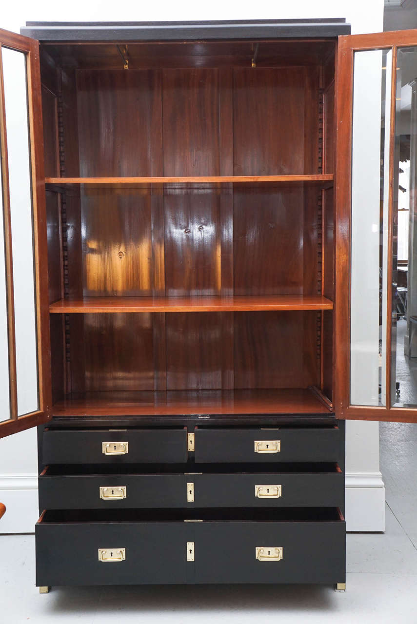 1940s austrian black lacquer cabinet at 1stdibs for 1940s kitchen cabinets