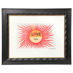 "Yves Saint Laurent 1972 ""Love"" Card"