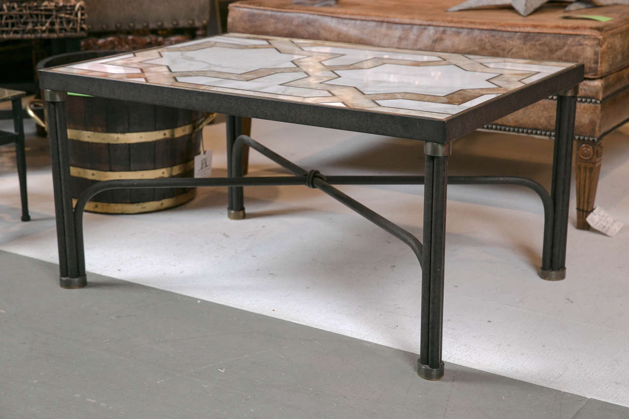 Inlaid Marble Coffee Table For Sale At 1stdibs