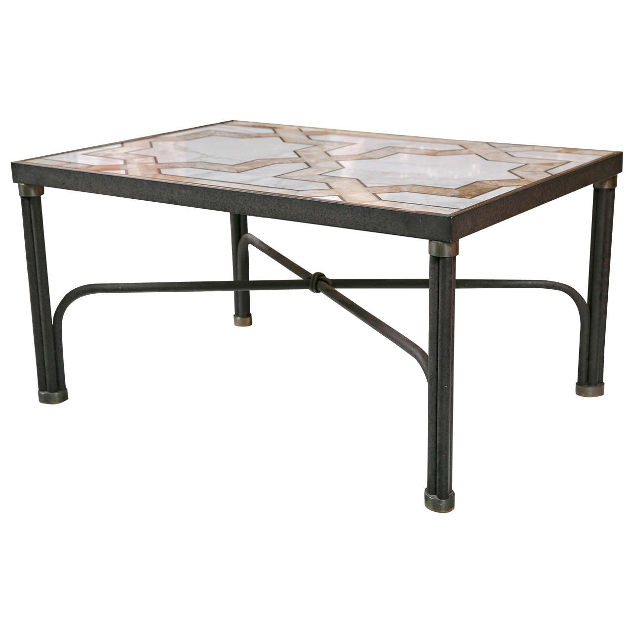 Inlaid Marble Coffee Table