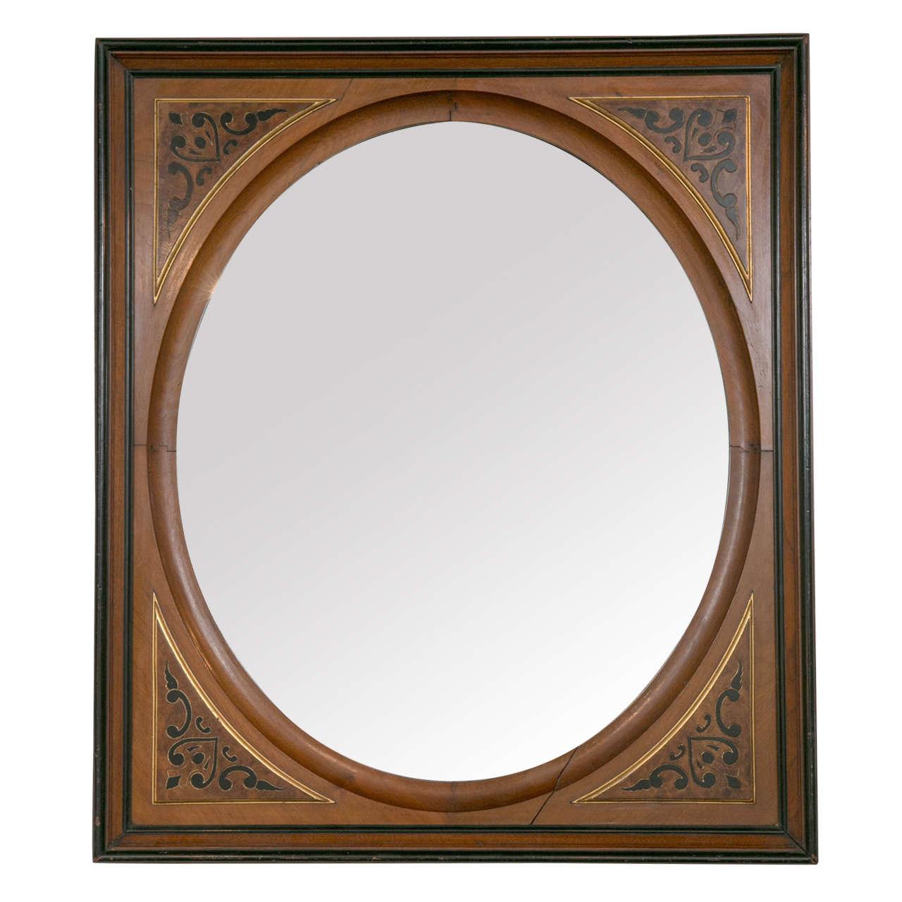 Large edwardian portrait frame mirror for sale at 1stdibs for Large framed mirrors for sale
