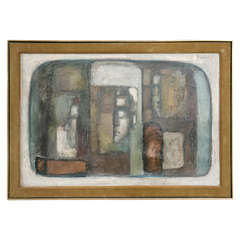 Mid-Century Cubist Painting