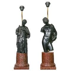Rare Pair of 1960s Resin Lamps