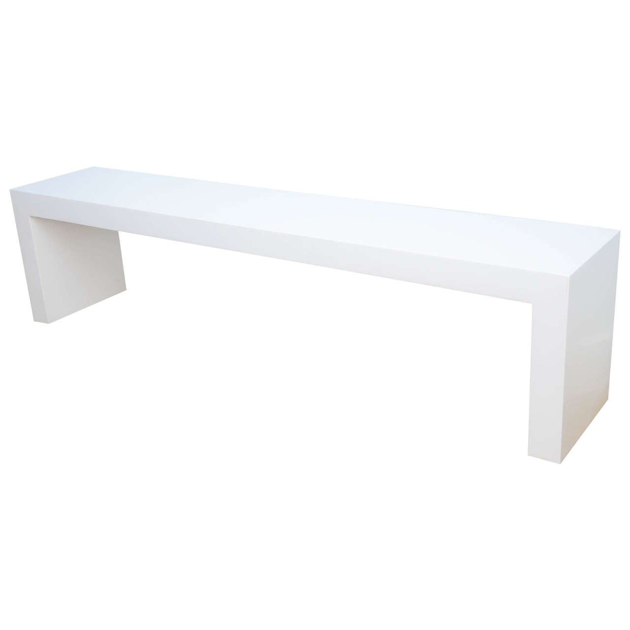 sleek minimalist modern white bench at 1stdibs