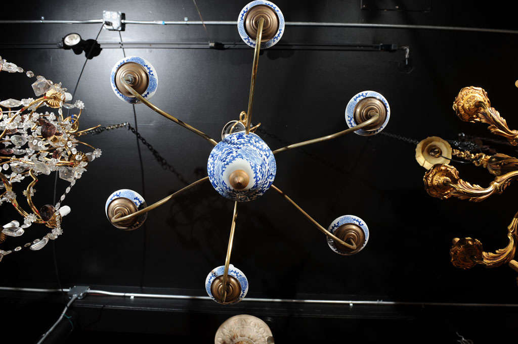 Dutch baroque style blue and white chandelier at 1stdibs for Dutch baroque architecture
