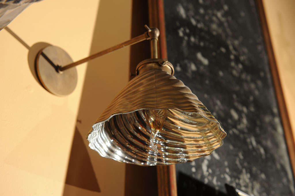 Mercury Glass Wall Lights : Pair, Mercury Glass Sconces at 1stdibs