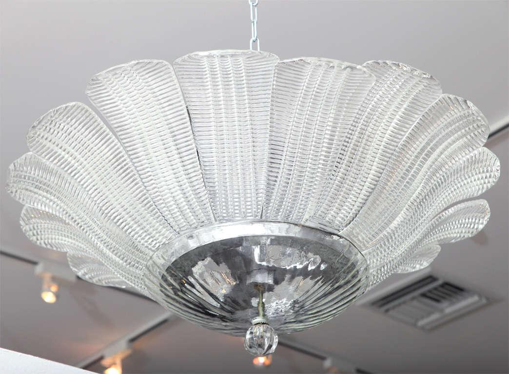 vintage murano glass flushmount light fixture at 1stdibs. Black Bedroom Furniture Sets. Home Design Ideas