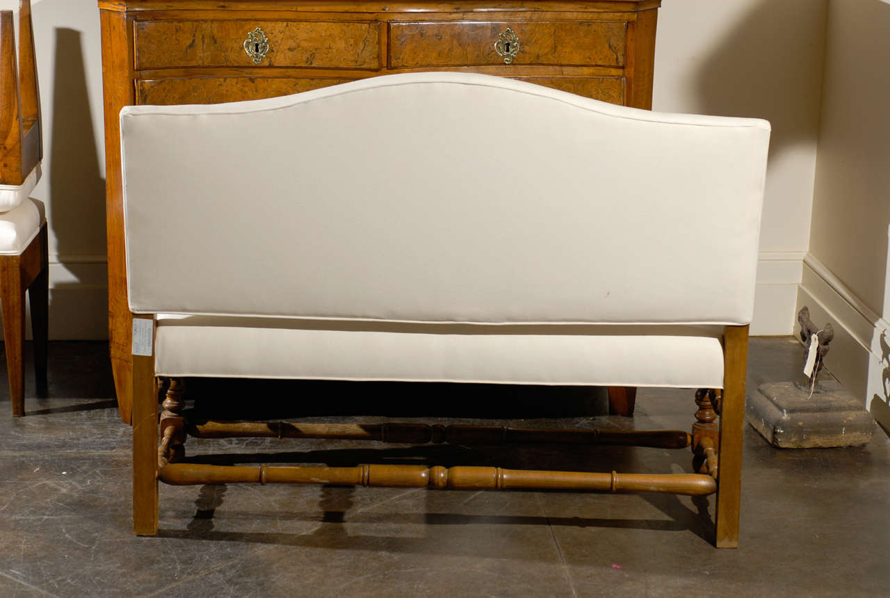 Upholstered Bench With Back French Upholstered Bench With Back At 1stdibs