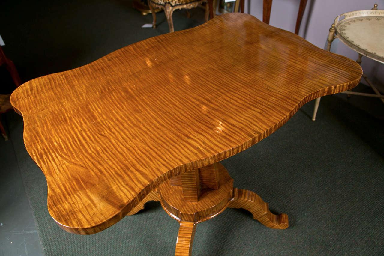 Wonderful Tiger Maple Lamp Table 3